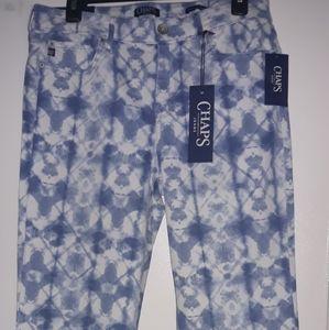 Chaps Tide dye pattern Capri Jean